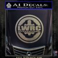 Lwrc International Firearms Decal Sticker Carbon FIber Chrome Vinyl 120x120