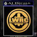 Lwrc International Firearms Decal Sticker Gold Vinyl 120x120