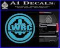 Lwrc International Firearms Decal Sticker Light Blue Vinyl 120x97