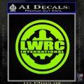 Lwrc International Firearms Decal Sticker Lime Green Vinyl 120x120