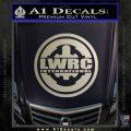Lwrc International Firearms Decal Sticker Metallic Silver Emblem 120x120
