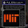 MIT Massachusetts Institute of Technology Decal Sticker Orange Emblem 120x120