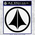 Macross Robotech Decal Sticker Black Vinyl 120x120