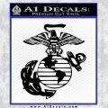 Marine Globe Decal Sticker Black Vinyl 120x120