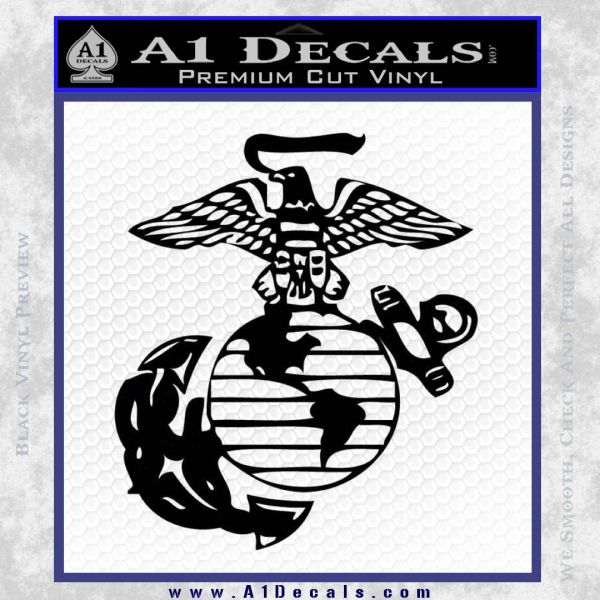 Marine Globe Decal Sticker Black Vinyl