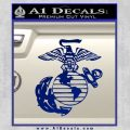 Marine Globe Decal Sticker Blue Vinyl 120x120