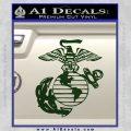 Marine Globe Decal Sticker Dark Green Vinyl 120x120