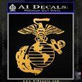 Marine Globe Decal Sticker Gold Vinyl 120x120