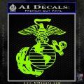 Marine Globe Decal Sticker Lime Green Vinyl 120x120