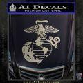 Marine Globe Decal Sticker Metallic Silver Emblem 120x120