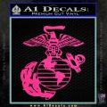 Marine Globe Decal Sticker Pink Hot Vinyl 120x120