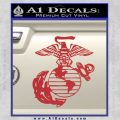 Marine Globe Decal Sticker Red 120x120