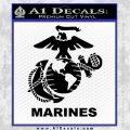 Marines Decal Sticker Full Black Vinyl 120x120