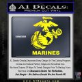 Marines Decal Sticker Full Yellow Laptop 120x120
