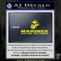 Marines Decal Sticker Wide Yellow Laptop 120x120
