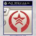 Mass Effect Renegade Logo Decal Sticker Red 120x120