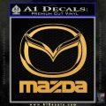 Mazda Decal Sticker Full Gold Vinyl 120x120