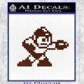 Mega Man 8 Bit Nintendo D2 Decal Sticker BROWN Vinyl 120x120
