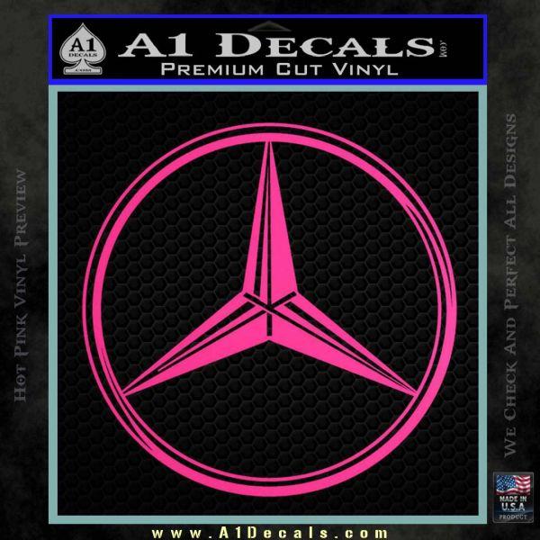 Mercedes logo cr decal sticker a1 decals for Mercedes benz logo decals stickers