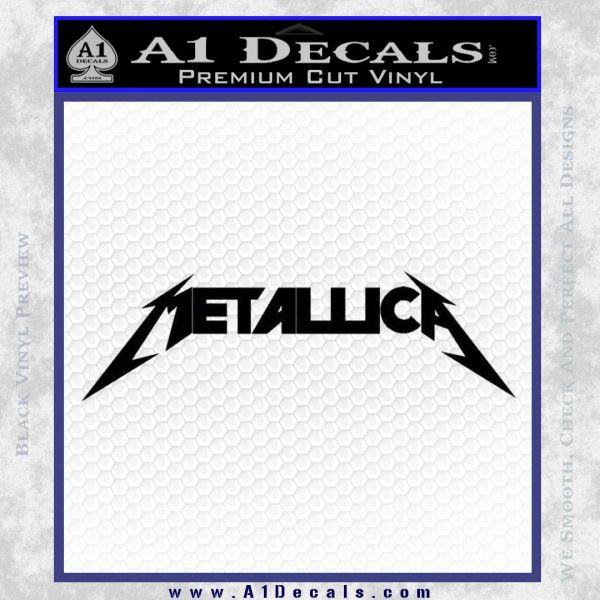 Metallica Decal Sticker DT Black Vinyl