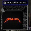 Metallica Decal Sticker DT Orange Emblem 120x120