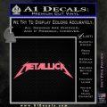 Metallica Decal Sticker DT Pink Emblem 120x120