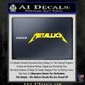 Metallica Decal Sticker DT Yellow Laptop 120x120