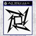 Metallica Ninja Star Decal Sticker Black Vinyl 120x120