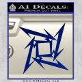 Metallica Ninja Star Decal Sticker Blue Vinyl 120x120