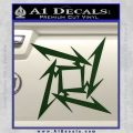 Metallica Ninja Star Decal Sticker Dark Green Vinyl 120x120