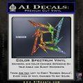 Metallica Ninja Star Decal Sticker Glitter Sparkle 120x120