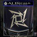 Metallica Ninja Star Decal Sticker Metallic Silver Emblem 120x120