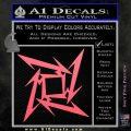 Metallica Ninja Star Decal Sticker Pink Emblem 120x120