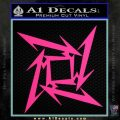 Metallica Ninja Star Decal Sticker Pink Hot Vinyl 120x120