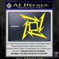 Metallica Ninja Star Decal Sticker Yellow Laptop 120x120