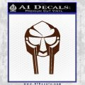 Mf Doom Mask D1 Decal Sticker BROWN Vinyl 120x120