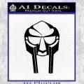 Mf Doom Mask D1 Decal Sticker Black Vinyl 120x120