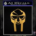 Mf Doom Mask D1 Decal Sticker Gold Vinyl 120x120