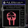 Mf Doom Mask D1 Decal Sticker Pink Emblem 120x120