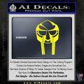 Mf Doom Mask D1 Decal Sticker Yellow Laptop 120x120