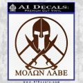 Molon Labe C1 Decal Sticker BROWN Vinyl 120x120