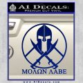 Molon Labe C1 Decal Sticker Blue Vinyl 120x120