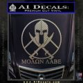 Molon Labe C1 Decal Sticker Carbon FIber Chrome Vinyl 120x120