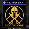 Molon Labe C1 Decal Sticker Gold Vinyl 120x120