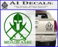 Molon Labe C1 Decal Sticker Green Vinyl Logo 120x97