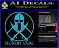 Molon Labe C1 Decal Sticker Light Blue Vinyl 120x97