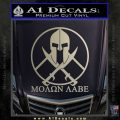 Molon Labe C1 Decal Sticker Metallic Silver Emblem 120x120