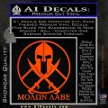 Molon Labe C1 Decal Sticker Orange Emblem 120x120