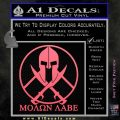 Molon Labe C1 Decal Sticker Pink Emblem 120x120