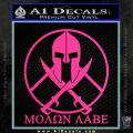 Molon Labe C1 Decal Sticker Pink Hot Vinyl 120x120